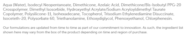 The Ordinary Azelaic Acid Suspension 10% ingredients - hanafadhi.com